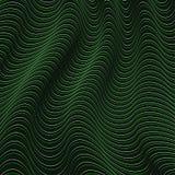Un'illusione ottica nera e verde Illustrazione di Stock