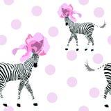 Un'illustrazione astratta di due ha barrato la zebra bianca e nera Fotografia Stock