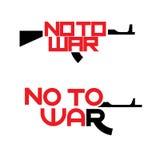 Un'illustrazione che consiste di due immagini di & di x22; non war& x22; royalty illustrazione gratis