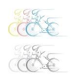 Un'illustrazione che consiste di due immagini sotto forma di corsa illustrazione vettoriale