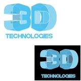 un'illustrazione che consiste di un'immagine del ` del ` 3D del testo Fotografie Stock