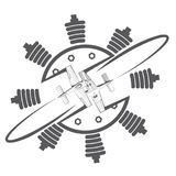 Un'illustrazione che consiste di un'immagine simbolica di due aerei royalty illustrazione gratis