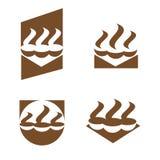 Un'illustrazione che descrive quattro immagini delle tazze di caffè illustrazione di stock
