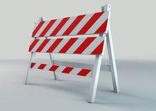 Un'illustrazione dell'illustrazione del cavalletto di traffico immagini stock libere da diritti