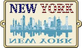 Etichetta di New York Fotografie Stock Libere da Diritti