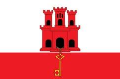 Un'illustrazione della bandiera del paese di Gibilterra fotografia stock libera da diritti