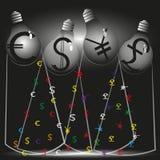 Un'illustrazione della corrente finanziaria quattro Fotografia Stock Libera da Diritti