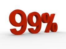 un'illustrazione di 99 per cento Fotografia Stock