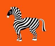 Un'illustrazione di bella zebra Royalty Illustrazione gratis