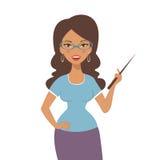 Un'illustrazione di bello insegnante alla scuola Fotografie Stock