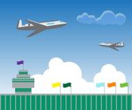 Un'illustrazione di due aerei volanti Fotografia Stock Libera da Diritti
