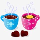 Partito di tè due Fotografie Stock