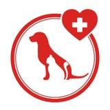 Un'illustrazione di un emblema veterinario di un gatto e di un cane Fotografie Stock