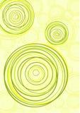 Un'illustrazione di tre gruppi di cerchi. Arte di vettore Fotografia Stock