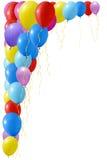 Un'illustrazione di un insieme dei palloni colourful Fotografia Stock Libera da Diritti