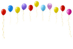 Un'illustrazione di un insieme dei palloni colourful Fotografie Stock