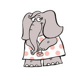 Un'illustrazione di una ragazza sveglia dell'elefante Illustrazione Vettoriale
