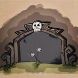 Pietra tombale in bianco del fumetto Fotografia Stock Libera da Diritti