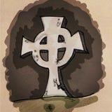 Pietra tombale in bianco del fumetto Fotografie Stock Libere da Diritti