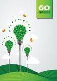 Un'illustrazione di verde di andare Fotografia Stock