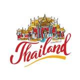 Un'illustrazione di vettore degli elementi grafici di informazioni per il viaggio in Tailandia, Fotografie Stock