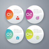 Un'illustrazione di vettore del cerchio di infographics di quattro opzioni illustrazione vettoriale