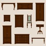 Un'illustrazione di vettore di mobilia classica Mobili Fotografia Stock Libera da Diritti