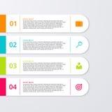 Un'illustrazione di vettore di un infographics di quattro rettangoli Immagine Stock Libera da Diritti