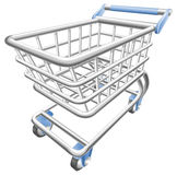 Un'illustrazione lucida del carrello del carrello di acquisto Fotografie Stock Libere da Diritti