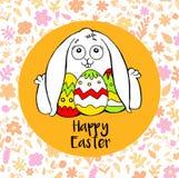 Un'illustrazione piacevole circa il coniglietto di pasqua Illustrazione Vettoriale