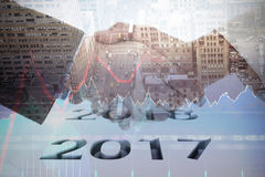 Un'immagine composita del grafico 2016 Immagini Stock Libere da Diritti