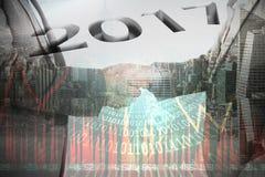 Un'immagine composita del grafico 2016 Fotografia Stock