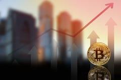 Un'immagine con un segno del bitcoin immagini stock