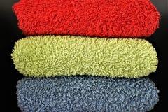 Un'immagine degli asciugamani rivestiti di ferro, tessuto di concetto Fotografia Stock