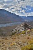 Un'immagine del ritratto del monastero chiave, un monastero buddista tibetano Fotografie Stock Libere da Diritti