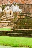 Un'immagine di Buddha nella sosta storica di Sukhothai Fotografia Stock Libera da Diritti