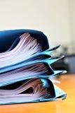 Un'immagine di concetto di alcuni archivi con i documenti fotografia stock libera da diritti