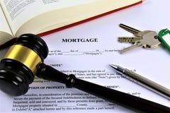 Un'immagine di concetto di un'ipoteca, affare, avvocato immagini stock