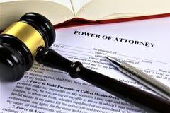 Un'immagine di concetto di una procura, affare, avvocato fotografia stock