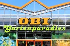 Un'immagine di un deposito di OBI - logo - Minden/Germania - 07/18/2017 Immagini Stock