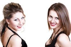 Un'immagine di due giovani ragazze del beautifull Immagine Stock