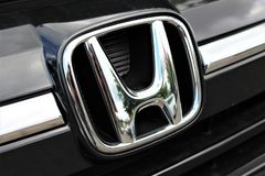 Un'immagine di un logo di Honda - Bielefeld/Germania - 07/23/2017 Immagine Stock Libera da Diritti