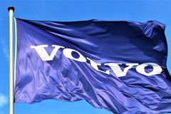 Un'immagine di un logo di Volvo - Hameln/Germania - 07/18/2017 Immagini Stock Libere da Diritti
