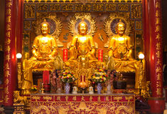 Un'immagine di tre Buddha Immagini Stock