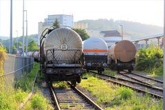 Un'immagine di un treno del carro armato, ferrovia fotografie stock libere da diritti
