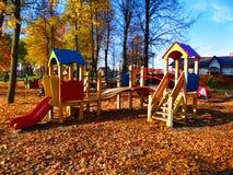 Un'immagine di un campo da giuoco in autunno Fotografia Stock Libera da Diritti