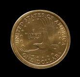 Un'immagine a macroistruzione di una moneta degli Stati Uniti del dollaro Fotografia Stock Libera da Diritti