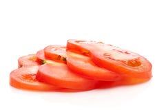 Un'immagine orizzontale di una pila 4 di pomodoro fresco SL immagine stock