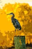 Un'immagine stilizzata di un uccello dell'airone royalty illustrazione gratis