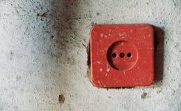 Un incavo elettrico sulla parete Fotografia Stock